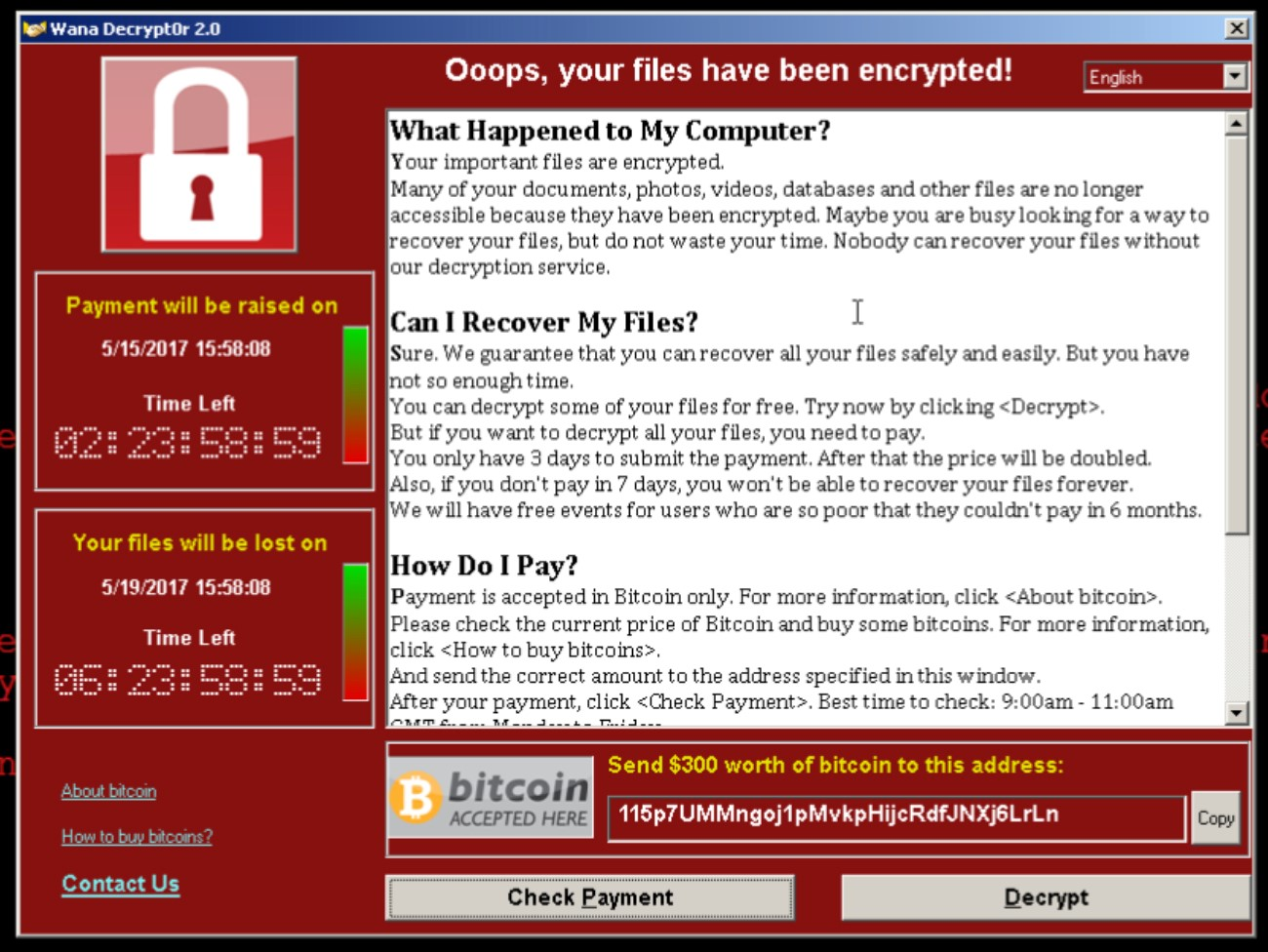 Using GigaSECURE to Detect WannaCry Infected Hosts in Your