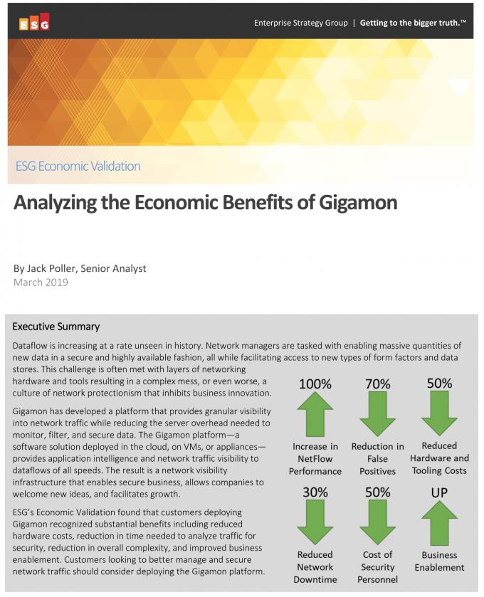 Analyzing the Economic Benefits of Gigamon
